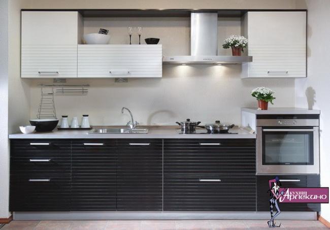 Серо-белые кухни дизайн фото
